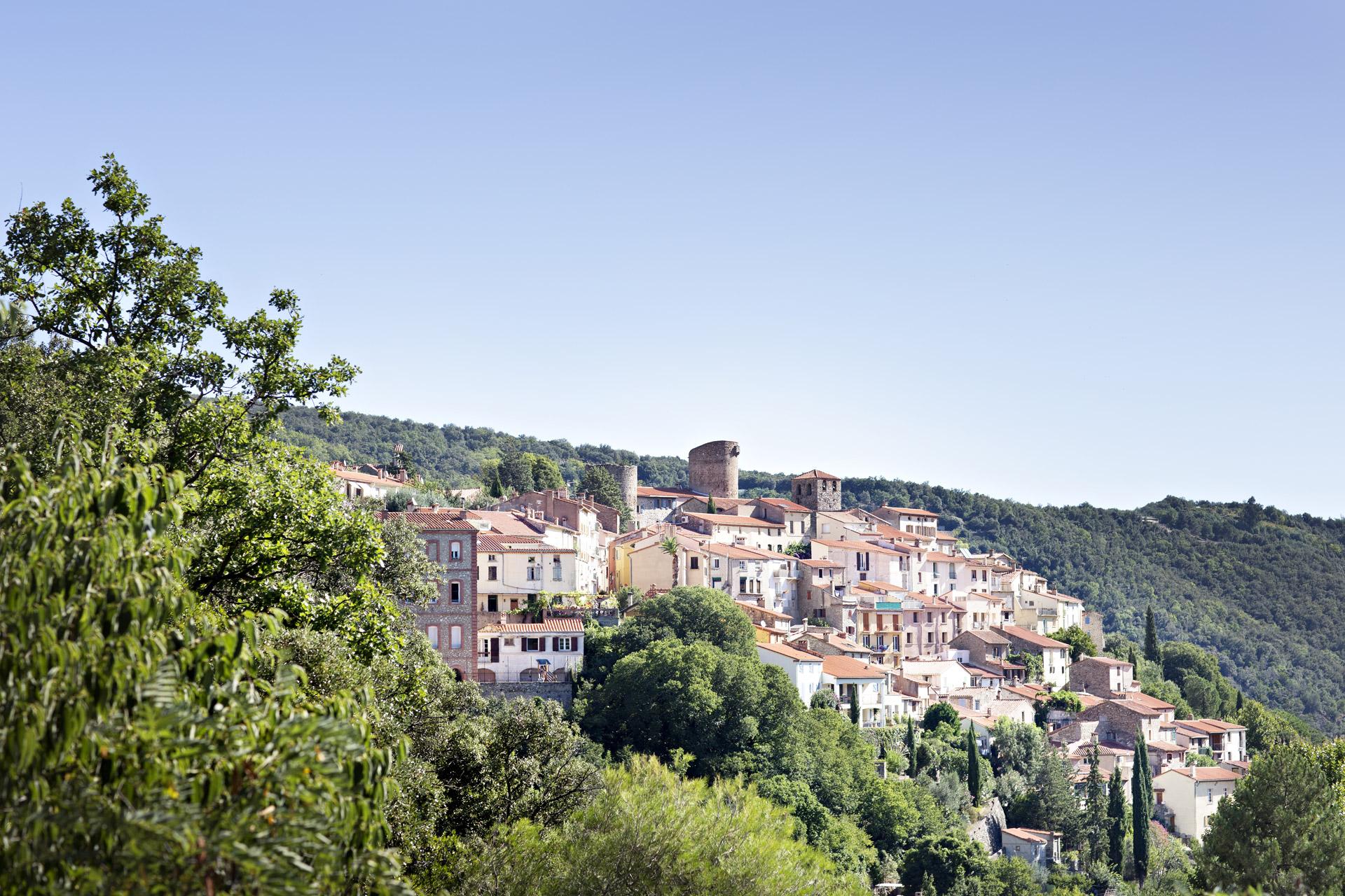 Vue du village d'Amélie les Bains