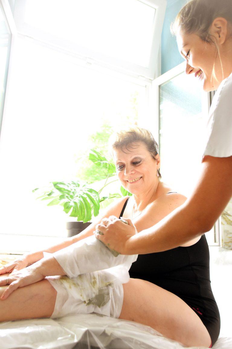 Massage de boue des Thermes de Capvern-les-Bains