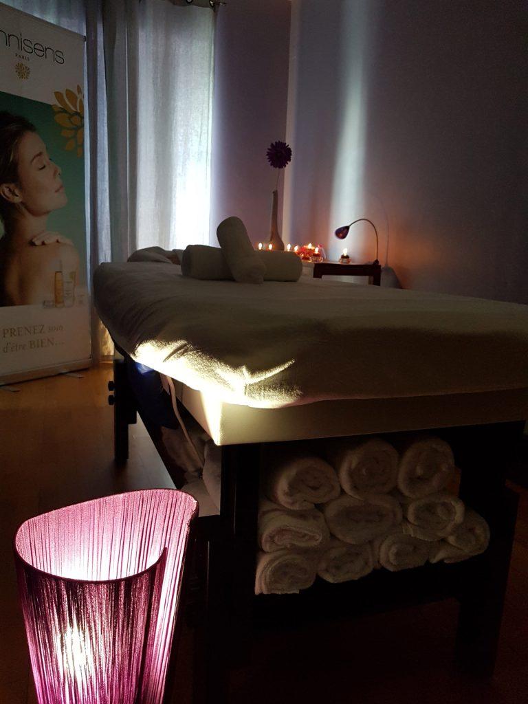 Cabine de massage de la station thermale de Lectoure