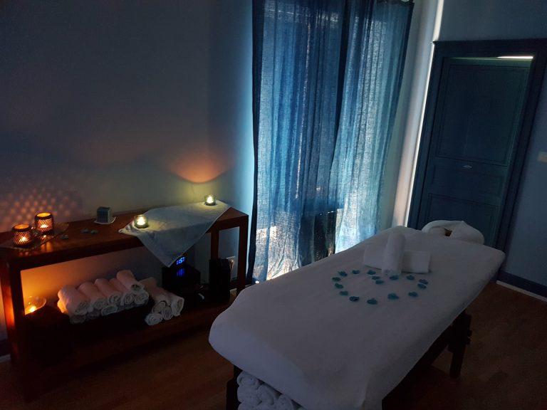 Table de massage à la station thermale de Lectoure